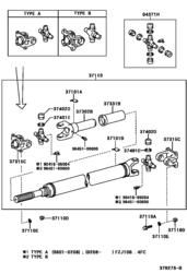 Карданный вал TOYOTA LC (оригинал) номер детали 37110-6A330
