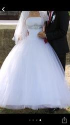 Срочно продам свадебное платье б/у, красивое размер 42-44